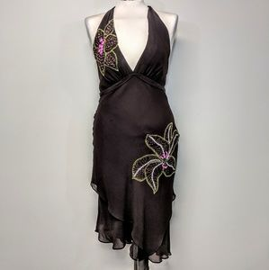 BCBG Silk Halter Dress